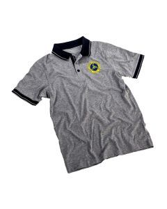 "Herren Polo-Shirt ""Grey"" mit Logoprint"